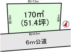 土地つくば市安食 51.4坪 売地茨城県つくば市安食つくばエクスプレス研究学園駅120万円