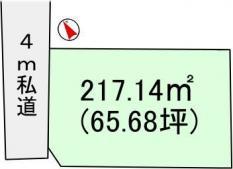 土地阿見町住吉2 65.68坪 売地茨城県稲敷郡阿見町住吉2丁目JR常磐線(取手~いわき)荒川沖駅480万円