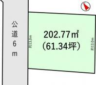 土地小美玉市納場 61.34坪 売地茨城県小美玉市納場JR常磐線(取手~いわき)羽鳥駅120万円