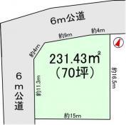 土地つくば市東2 70坪 売地茨城県つくば市東2丁目つくばエクスプレスつくば駅2100万円