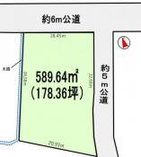 土地つくば市上ノ室 178.36坪 売地茨城県つくば市上ノ室つくばエクスプレスつくば駅890万円