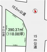 土地つくば市大砂 118.08坪 売地茨城県つくば市大砂つくばエクスプレス研究学園駅200万円
