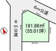 土地つくば市山中 55.01坪 売地茨城県つくば市山中つくばエクスプレス研究学園駅880万円