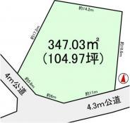 土地常総市篠山 104.97坪 売地茨城県常総市篠山関東鉄道常総線石下駅450万円