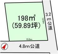 土地つくば市上郷 59.89坪 売地茨城県つくば市上郷つくばエクスプレス研究学園駅200万円
